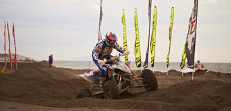 Quad at motocross race Stock Image