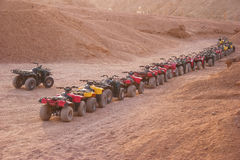 Quad motorbike safari in desert, Sharm el Sheikh, Egypt Stock Image