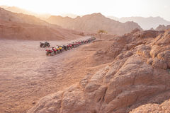 Quad motorbike safari in desert, Sharm el Sheikh, Egypt stock photos