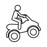 quad motorcycle extreme sport Stock Photo