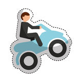 quad motorcycle extreme sport Royalty Free Stock Photography