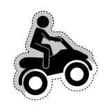 quad motorcycle extreme sport Royalty Free Stock Photo