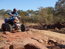 Quad motorcycle racing royalty free stock image