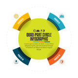 Quad-Part Circle Infographic Royalty Free Stock Photos