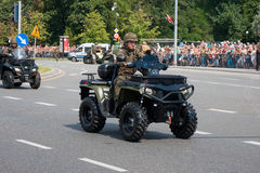 Quad Polaris, quick reconnaisse vehicle Royalty Free Stock Images
