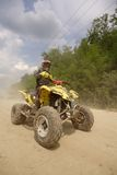 Quad race. A quad racer in a competition Royalty Free Stock Photo