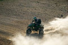 Quad racer en route Stock Image