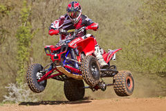 Quad rider jump Stock Photo