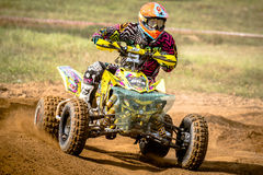 Quad rider on the race Royalty Free Stock Photography