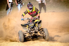 Quad rider on the race Royalty Free Stock Photos