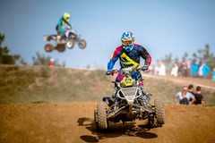 Quad rider on the race Royalty Free Stock Image