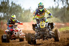 Quad rider on the race Royalty Free Stock Photo
