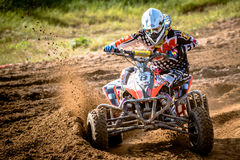 Quad rider on the race Stock Photography