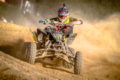 Quad rider on the race Royalty Free Stock Images