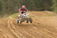 Quad rider on the track Royalty Free Stock Images
