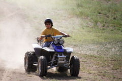 Quad Runner Fun Royalty Free Stock Photography