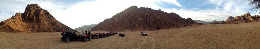 Quad tour in the desert Royalty Free Stock Photos