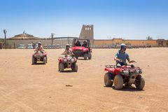 Quad trip on the african desert near Hurghada stock photography