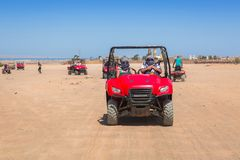 Quad trip on the african desert near Hurghada stock photo