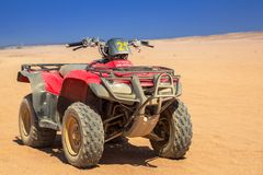 Quad trip on the african desert near Hurghada royalty free stock photo