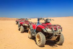 Quad trip on african desert. Of Egypt Royalty Free Stock Photo