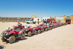 Quad trip on the desert near Hurghada royalty free stock photography