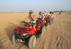 Quad trip in Sinai stock photo
