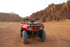 Quad trip in Sinai mountains Royalty Free Stock Photography