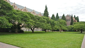 The Quad at University of Washington Royalty Free Stock Photo