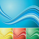 Quad wave background Stock Images
