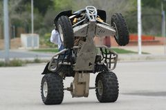 Quad wheelie Stock Image