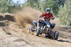 Quadbike种族驾驶 免版税库存照片