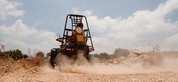 Quadbike in high speed Royalty Free Stock Images
