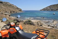 Quadbike Kymco стоковое фото