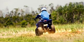 Quadbike racing Stock Image