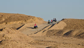 Quadbike ride stock photography