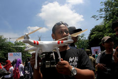 Quadcopter Royalty-vrije Stock Afbeeldingen