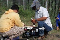 Quadcopter Foto de archivo libre de regalías