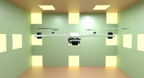 Quadcopter 3d ilustrator obraz royalty free