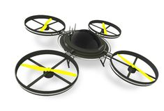 Quadcopter Dron Isolated Royalty Free Stock Image