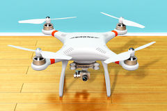 Quadcopter drone with 4K video and photo camera Stock Image