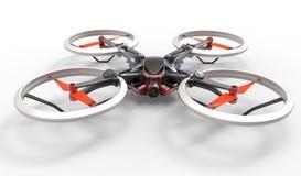 Quadcopter för surr för hög tech för science fiction med fjärrkontroll Fotografering för Bildbyråer