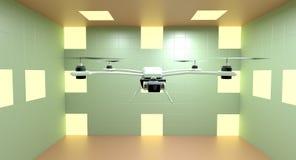 Quadcopter ilustrador 3d Imagen de archivo libre de regalías