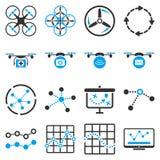 Quadcopter navigation icon set Stock Images