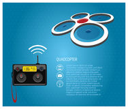 Quadcopter and Remote Control Royalty Free Stock Photography