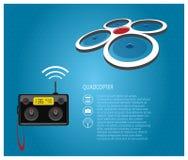 Quadcopter und Fernbedienung Lizenzfreie Stockfotografie