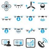 Quadcopter usługa ikony set Obraz Stock