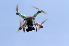 Quadcopter. Used to capture video and photos of cultural events in the city of Solo, Central Java, Indonesia stock photos