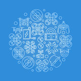 Quadcopter vector illustration Royalty Free Stock Image