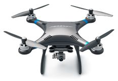 Quadcopterhommel met 4K video en fotocamera Stock Foto's